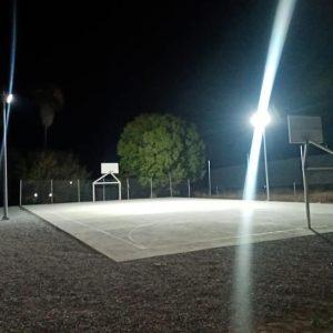 Entrega a vecinos de la colonia Viñedos cancha deportiva