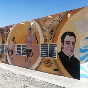Avance del mural que se realiza en el centro cultural Saltillo 4001