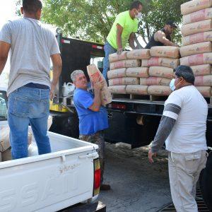 300 bultos de cemento los que beneficiaron a los monclovenses