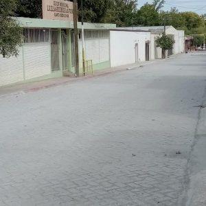Obra de concreto hidráulico en la calle Heroico Colegio Militar