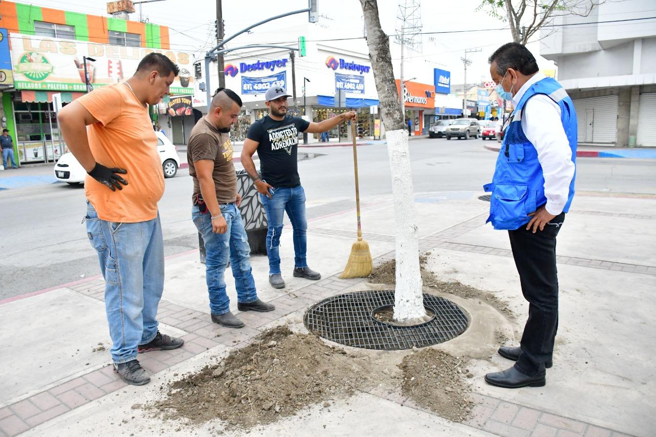 Alcalde de Monclova supervisa acciones de limpieza