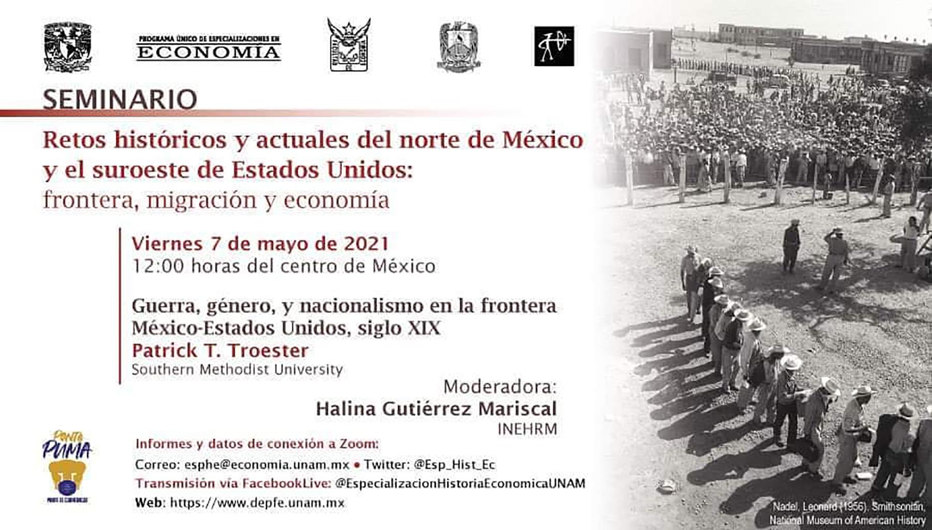 """Seminario """"Retos Históricos y Actuales del Norte de México"""""""