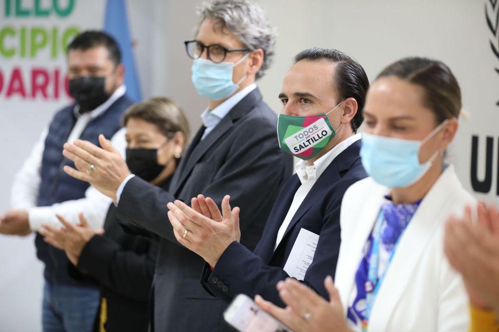 Municipio y la ONU trabajan en equipo por refugiados en Saltillo
