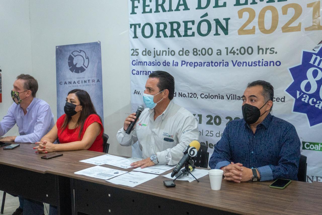 SECRETARÍA DEL TRABAJO DE COAHUILA OFERTARÁ 800 VACANTES A LAGUNEROS EN FERIA DE EMPLEO