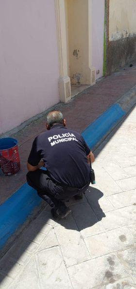 Se pintaron líneas azules en diferentes calles del Municipio
