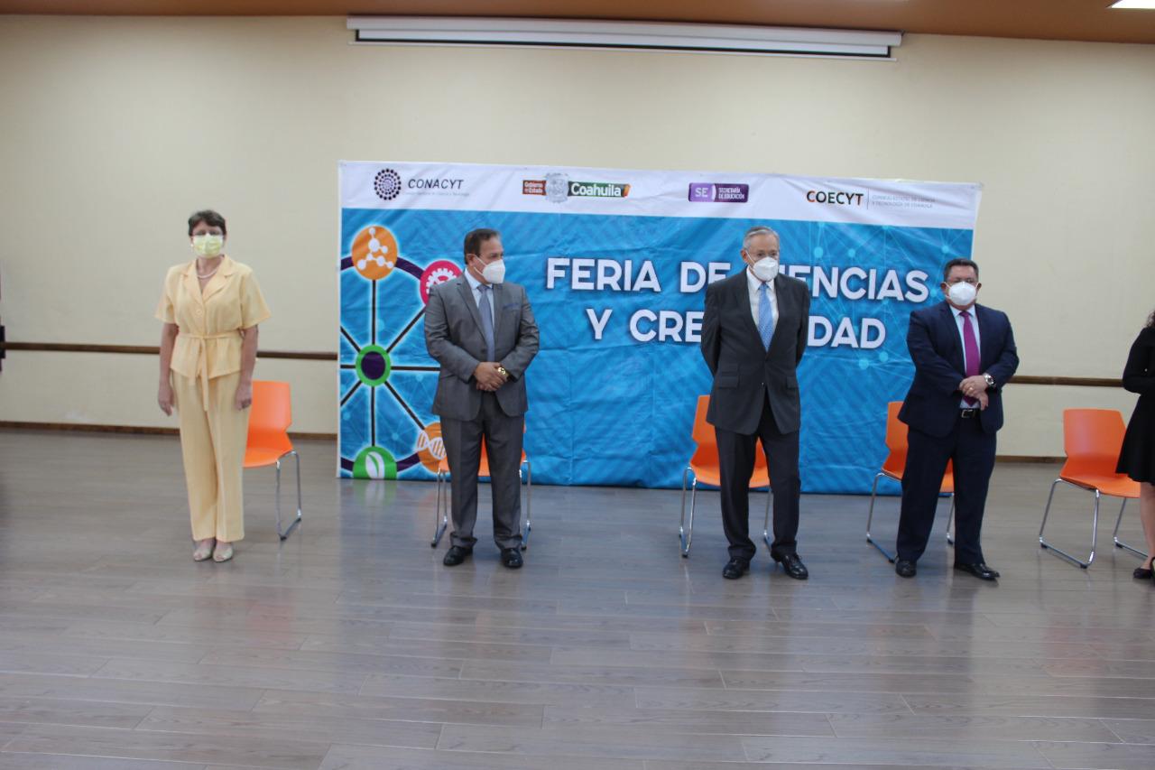 PREMIA COAHUILA A LOS GANADORES DEL CONCURSO 'FERIA DE CIENCIAS Y CREATIVIDAD 2021'