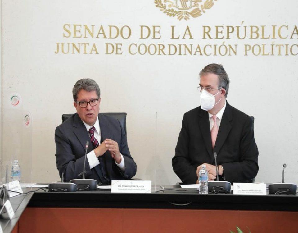 Se crea marco legal de entendimiento entre senado y el canciller Marcelo Ebrard: Monreal
